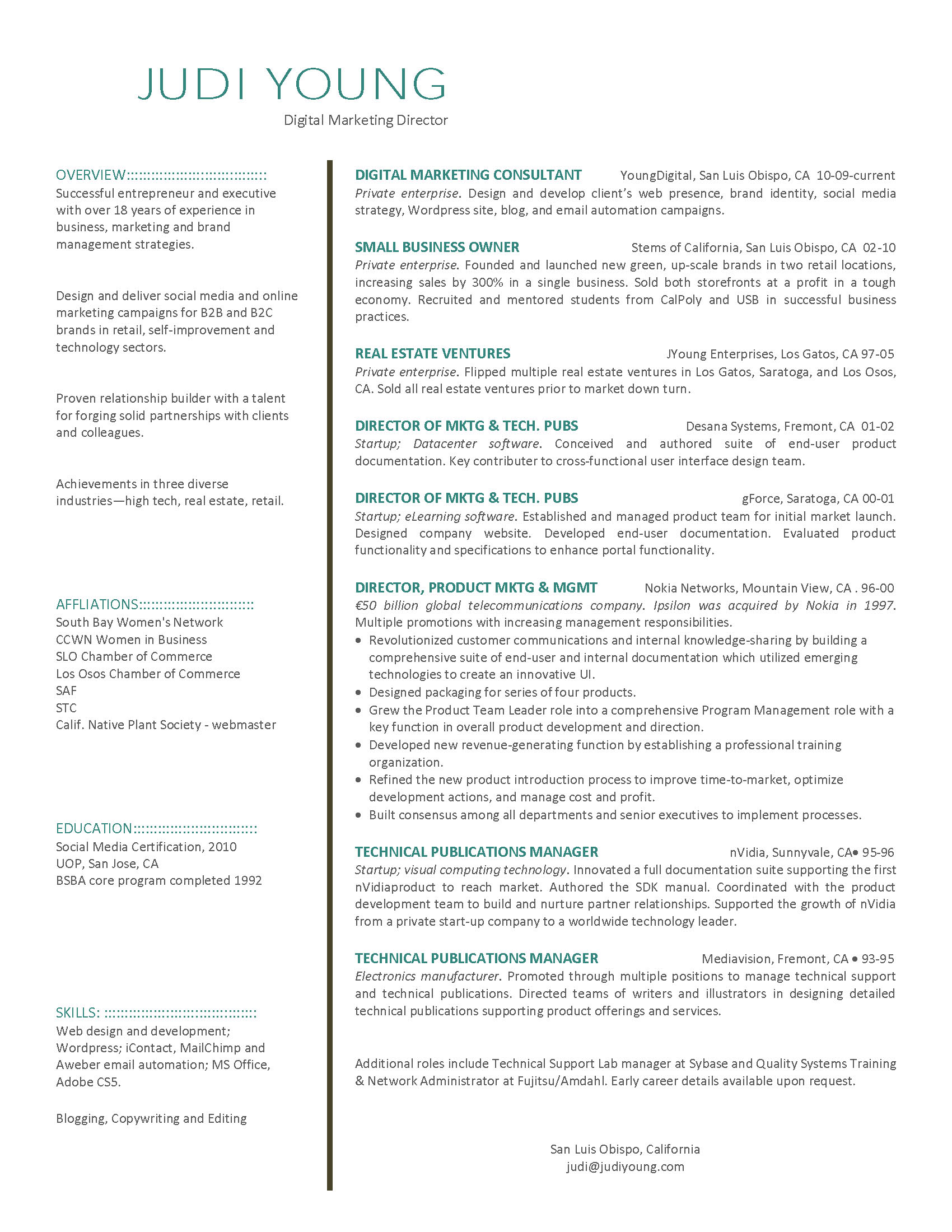 marketing manager resume viewing gallery